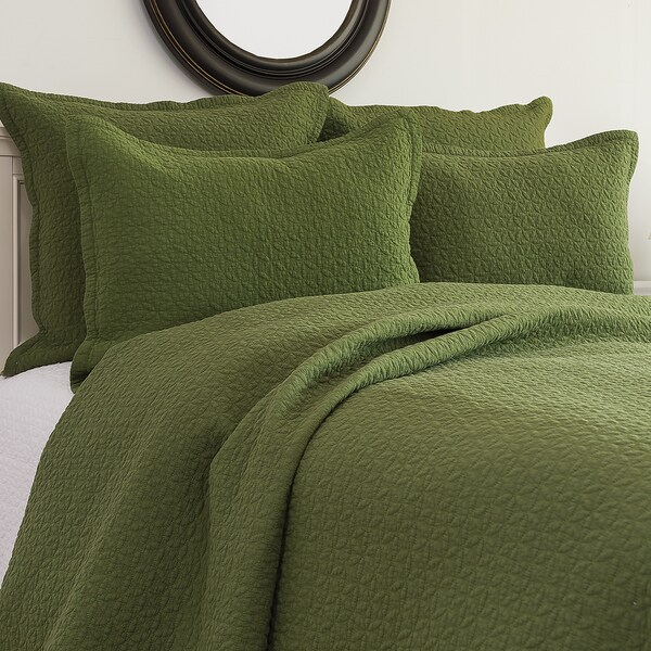 Manchester Fern Cotton Quilt 3-piece Set