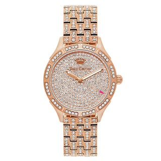 Juicy Couture Women's 'Arianna' Gold Plated Rose Gold Dial Japanese Quartz Watch