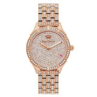Juicy Couture Women's 'Arianna' Gold Plated Rose Gold Dial Japanese Quartz Watch|https://ak1.ostkcdn.com/images/products/16004151/P22397409.jpg?impolicy=medium