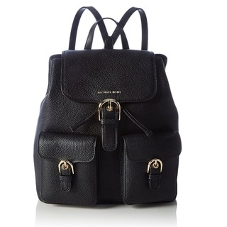 Michael Kors Small Cooper Flap Black Backpack