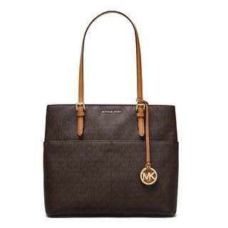 Michael Kors Bedford Large Brown Pocket Tote Bag