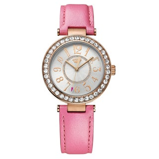 Juicy Couture Women's 'Cali' Leather Silver Dial Japanese Quartz Watch