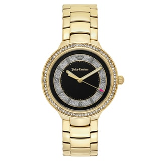 Juicy Couture Women's 'Catalina' Gold Plated Black Dial Japanese Quartz Watch