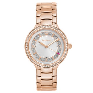 Juicy Couture Women's 'Catalina' Gold Plated Silver Dial Japanese Quartz Watch
