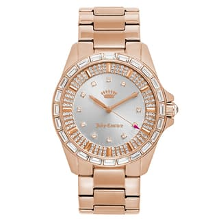 Juicy Couture Women's 'Charlotte' Gold Plated Silver Dial Japanese Quartz Watch|https://ak1.ostkcdn.com/images/products/16004171/P22397429.jpg?impolicy=medium