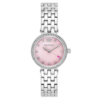 Juicy Couture Women's 'Cali' Stainless Steel Pink Mother-of-Pearl Dial Japanese Quartz Watch
