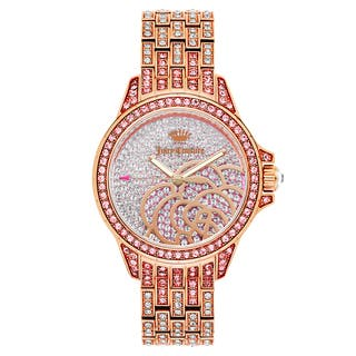 Juicy Couture Women's 'Charlotte' Gold Plated Pink Dial Japanese Quartz Watch|https://ak1.ostkcdn.com/images/products/16004175/P22397428.jpg?impolicy=medium