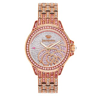 Juicy Couture Women's 'Charlotte' Gold Plated Pink Dial Japanese Quartz Watch