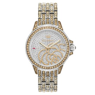 Juicy Couture Women's 'Charlotte' Stainless Steel Silver Dial Japanese Quartz Watch