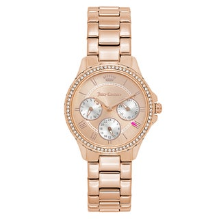 Juicy Couture Women's 'Gwen' Gold Plated Rose Gold Dial Japanese Quartz Watch