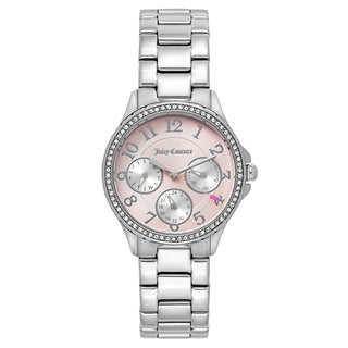 Juicy Couture Women's 'Gwen' Stainless Steel Light Pink Dial Japanese Quartz Watch