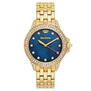 Juicy Couture Women's 'Malibu' Gold Plated Blue Dial Japanese Quartz Watch