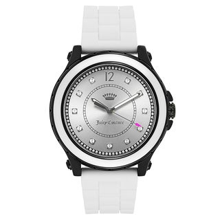 Juicy Couture Women's 'Hollywood' Rubber Silver Dial Japanese Quartz Watch