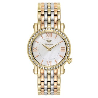Juicy Couture Women's 'La Luxe' Two Tone White Mother-of-Pearl Dial Japanese Quartz Watch