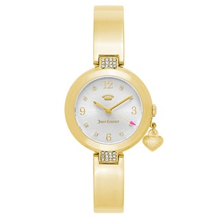 Juicy Couture Women's 'Sienna' Gold Plated Silver Dial Japanese Quartz Watch