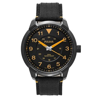 Pulsar Men's 'Easy Style' Fabric Black Dial Japanese Quartz Watch|https://ak1.ostkcdn.com/images/products/16004248/P22397464.jpg?_ostk_perf_=percv&impolicy=medium