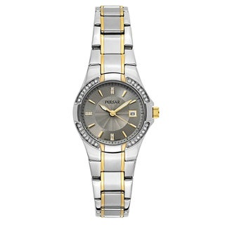 Pulsar Women's 'Night Out' Two Tone Gray Dial Japanese Quartz Watch