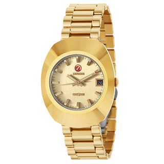 Rado Men's 'Original' Gold Plated Gold Dial Swiss Mechanical Automatic Watch|https://ak1.ostkcdn.com/images/products/16004271/P22397513.jpg?impolicy=medium