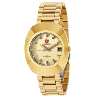 Rado Men's 'Original' Gold Plated Gold Dial Swiss Mechanical Automatic Watch