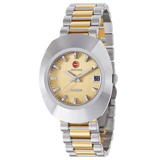 Rado Men's 'Original' Two Tone Gold Dial Swiss Mechanical Automatic Watch