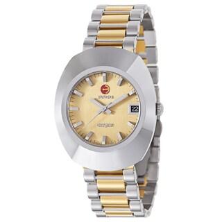 Rado Men's 'Original' Two Tone Gold Dial Swiss Mechanical Automatic Watch