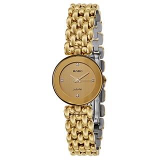 Rado Women's 'Florence' Gold Plated Gold Dial Swiss Quartz Watch
