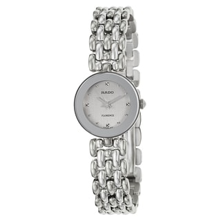 Rado Women's 'Florence' Stainless Steel Silver Dial Swiss Quartz Watch