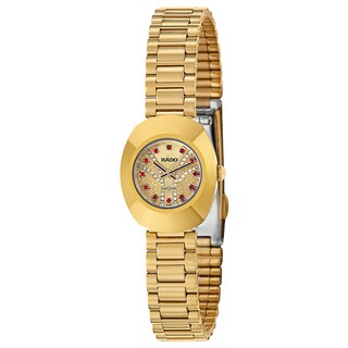 Rado Women's 'Original' Gold Plated Gold Dial Swiss Quartz Watch