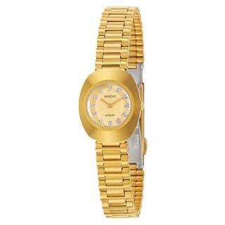 Rado Women's 'Original' Gold Plated Gold Dial Swiss Quartz Watch|https://ak1.ostkcdn.com/images/products/16004283/P22397501.jpg?impolicy=medium