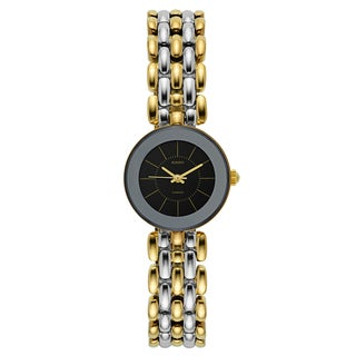 Rado Women's 'Florence' Two Tone Black Dial Swiss Quartz Watch