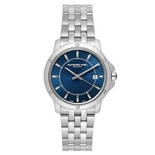 Raymond Weil Men's 'Tango' Stainless Steel Blue Dial Swiss Quartz Watch