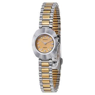 Rado Women's 'Original' Two Tone Gold Dial Swiss Quartz Watch|https://ak1.ostkcdn.com/images/products/16004299/P22397543.jpg?impolicy=medium