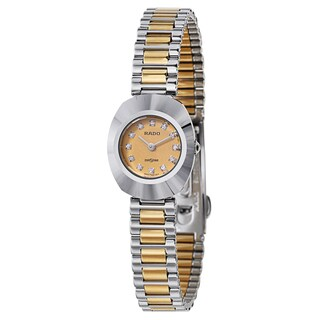 Rado Women's 'Original' Two Tone Gold Dial Swiss Quartz Watch