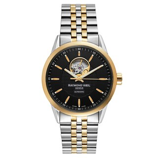 Raymond Weil Men's 'Freelancer' Stainless Steel Black Dial Swiss Mechanical Automatic (Self-Winding) Watch