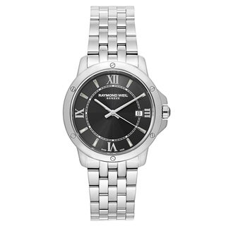 Raymond Weil Men's 'Tango' Stainless Steel Grey Dial Swiss Quartz Watch