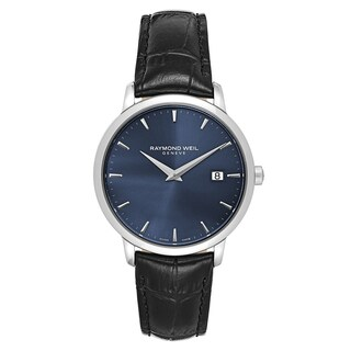 Raymond Weil Men's 'Toccata' Leather Blue Dial Swiss Quartz Watch