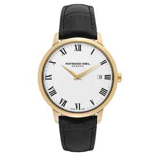 Raymond Weil Men's 'Toccata' Leather White Dial Swiss Quartz Watch|https://ak1.ostkcdn.com/images/products/16004333/P22397556.jpg?impolicy=medium