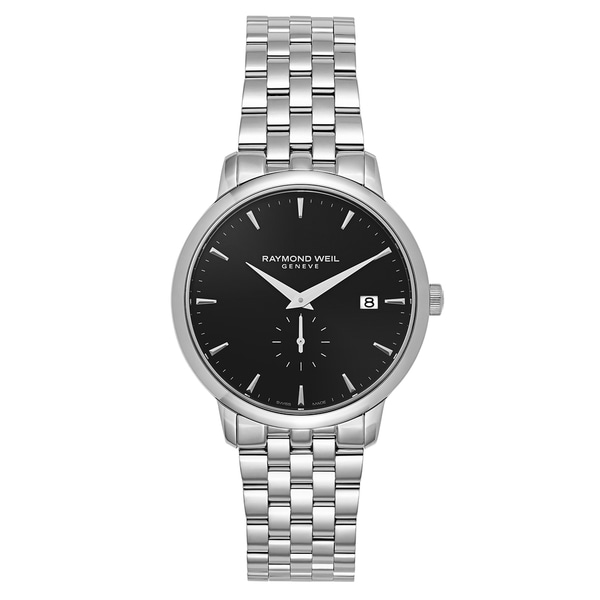 6186732e0 Shop Raymond Weil Men's 'Toccata' Stainless Steel Black Dial Swiss Quartz  Watch - Free Shipping Today - Overstock - 16004334