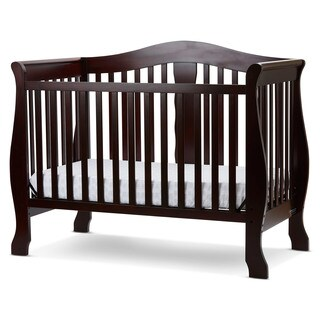 LA Baby Value Package Avalon 4 in I Convertible Crib with Innerspring Mattress in Cherry