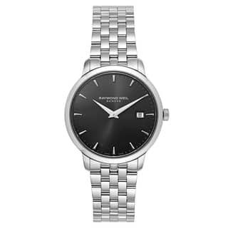 Raymond Weil Men's 'Toccata' Stainless Steel Dark Grey Dial Swiss Quartz Watch https://ak1.ostkcdn.com/images/products/16004338/P22397559.jpg?impolicy=medium