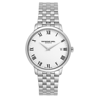 Raymond Weil Men's 'Toccata' Stainless Steel White Dial Swiss Quartz Watch