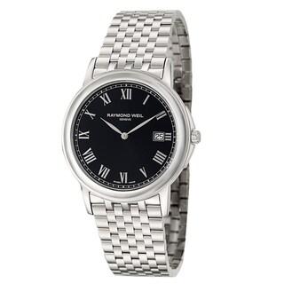 Raymond Weil Men's 'Tradition' Stainless Steel Dark Grey Dial Swiss Quartz Watch