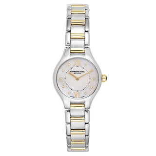 Raymond Weil Women's 'Noemia' Two Tone White Mother-of-Pearl Dial Swiss Quartz Watch