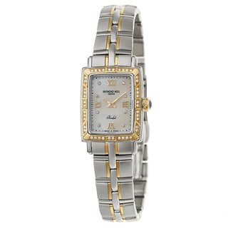 Raymond Weil Women's 'Parsifal' Two Tone White Mother-of-Pearl Dial Swiss Quartz Watch