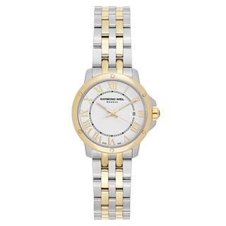 Raymond Weil Women's 'Tango' Two Tone White Dial Swiss Quartz Watch|https://ak1.ostkcdn.com/images/products/16004355/P22397585.jpg?_ostk_perf_=percv&impolicy=medium