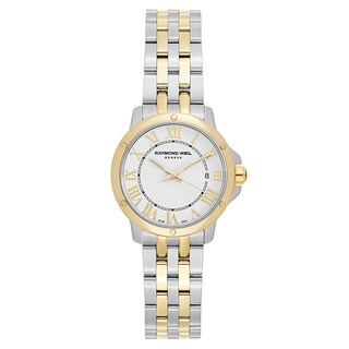 Raymond Weil Women's 'Tango' Two Tone White Dial Swiss Quartz Watch