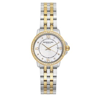 Raymond Weil Women's 'Tango' Two Tone White Mother-of-Pearl Dial Swiss Quartz Watch