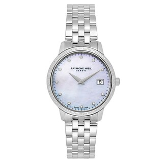 Raymond Weil Women's 'Toccata' Stainless Steel White Mother-of-Pearl Dial Swiss Quartz Watch