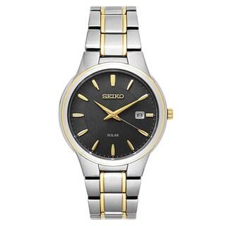 Seiko Men's SNE404 'Solar' Two-Tone Stainless Steel Watch