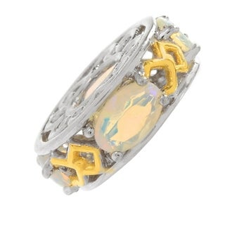 Michael Valitutti Palladium Silver Ethiopian Opal 4-Stone Slide-on Charm